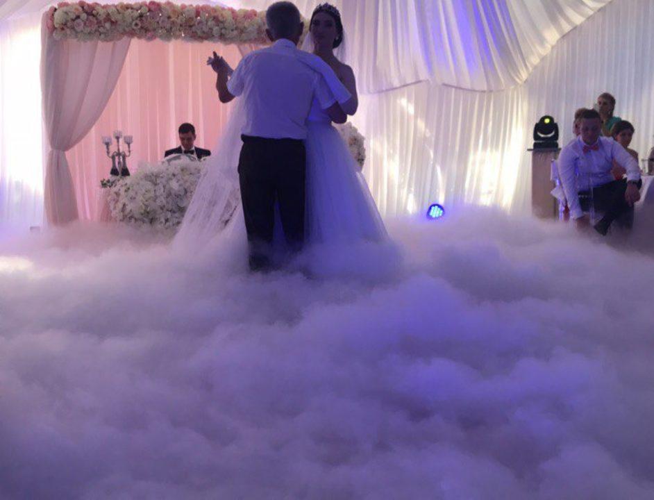 Тяжелый дым на танец отца и невесты