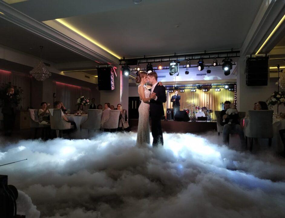 Свадебный танец с тяжелым дымом