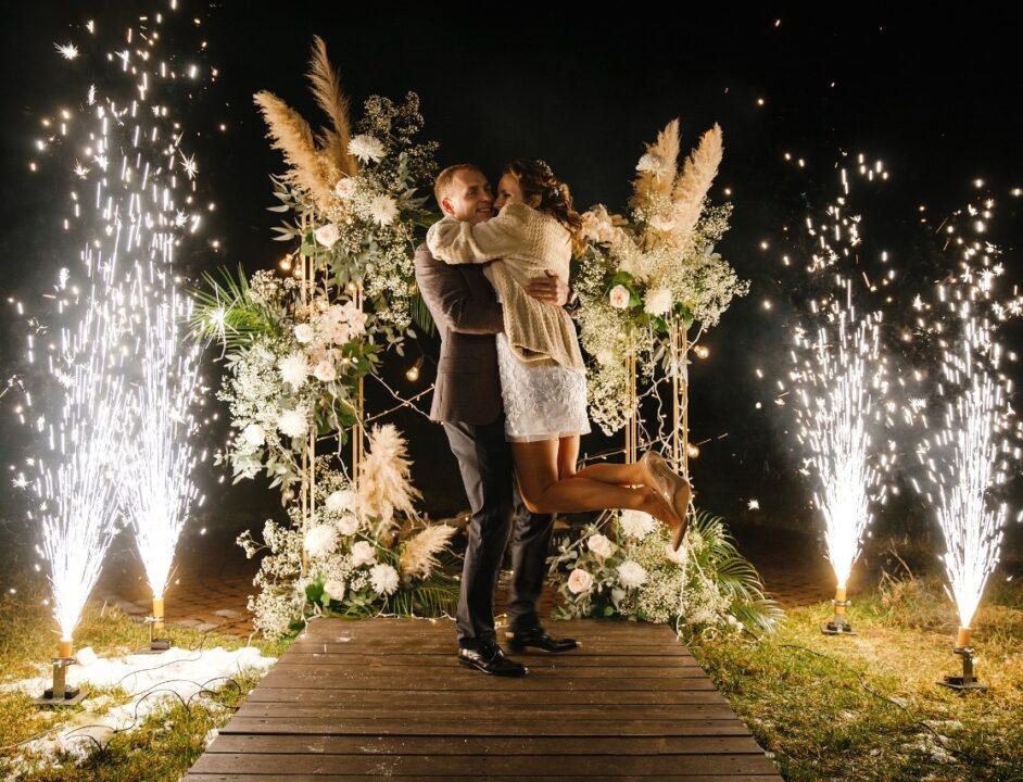 Холодные фонтаны на финал свадьбы